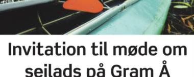 Sejlads på Gram Å